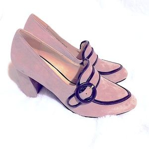 IMNYC~ Soft Pink Suede Oxford Loafer Blocked👠
